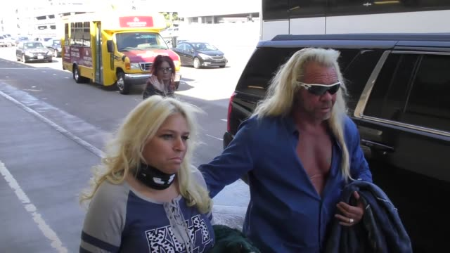 INTERVIEW Beth Chapman Dog The Bounty Hunter talk about how she had surgery to remove a tumor while departing at LAX Airport in Los Angeles in...