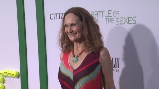 beth grant at battle of the sexes los angeles premiere presented by fox searchlight at regency village theatre on september 16 2017 in westwood... - regency village theater stock videos & royalty-free footage