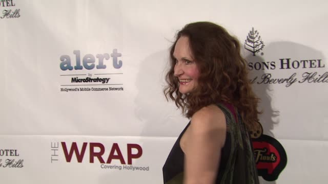 beth grant at thewrap.com pre-oscar party on 2/22/2012 in beverly hills, ca. - oscar party stock videos & royalty-free footage