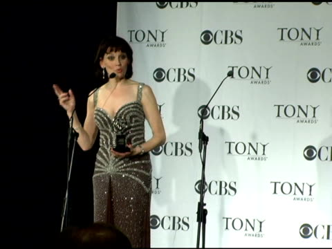 beth leavel, best featured actress in a musical for 'the drowsy chaperone' on beatrice stockwell as 'drowsy' and what made her tick as a diva at the... - radio city music hall stock-videos und b-roll-filmmaterial