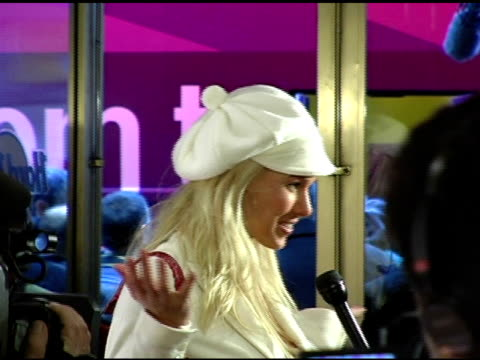 beth ostrosky at the howard stern last day live event arrivals and inside at hard rock cafe in new york new york on december 16 2005 - hard rock cafe stock videos & royalty-free footage