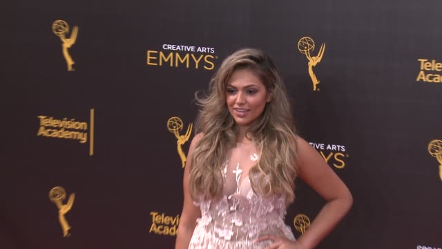 bethany mota at 2016 creative arts emmy awards - day 2 in los angeles, ca 9/11/16 - day 2 stock videos & royalty-free footage