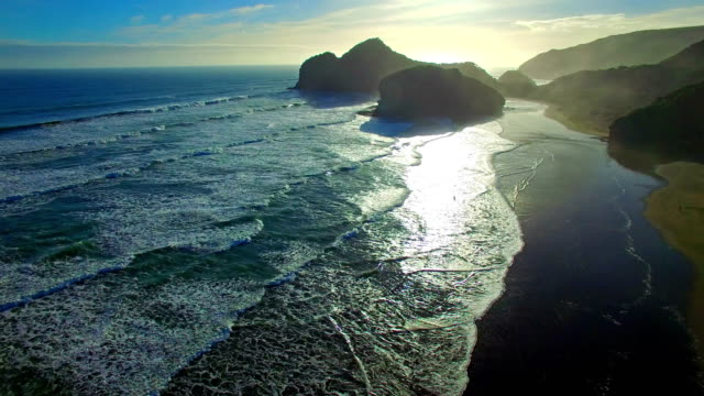bethells beach - new zealand stock videos & royalty-free footage