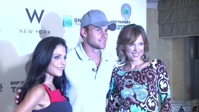 betheny frankel and andy roddick at the 10th annual bnp paribas taste of tennis benefit for the food bank for nyc at new york ny - andy roddick stock-videos und b-roll-filmmaterial
