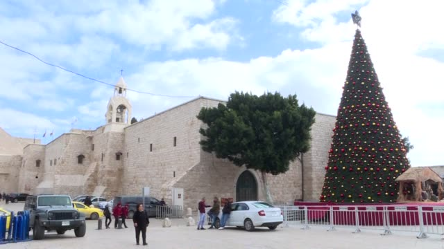 bethlehem is buzzing with more tourists expected this christmas than have visited the biblical city in years causing the kind of problem that modern... - religious illustration stock videos and b-roll footage