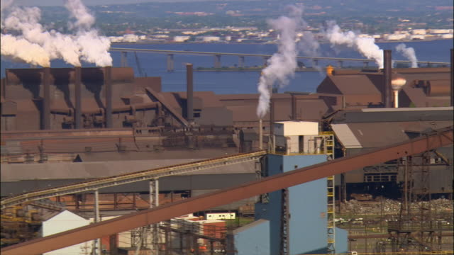 ms, pan, bethlehem steel, pennsylvania, usa - metal industry stock videos and b-roll footage