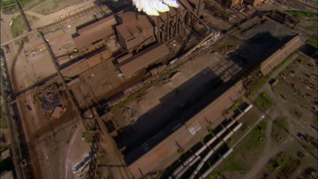 aerial, bethlehem steel, pennsylvania, usa - bethlehem pennsylvania stock videos & royalty-free footage