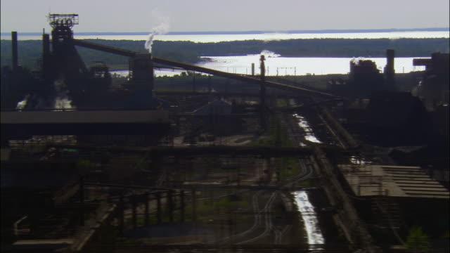 aerial, bethlehem steel, pennsylvania, usa - bethlehem pennsylvania stock videos and b-roll footage