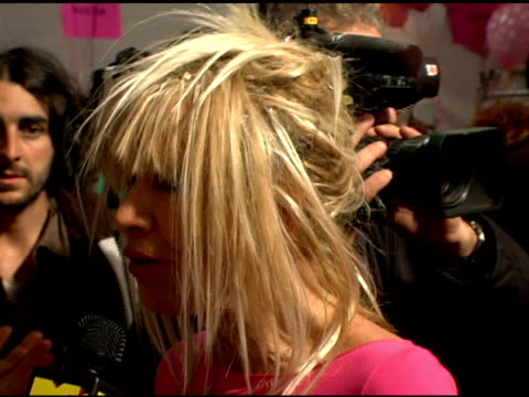 Betsey Johnson at the Olympus Fashion Week Fall 2006 Betsey Johnson Backstage and Runway at the Promenade Bryant Park in New York New York on...