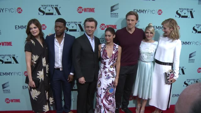 Betsy Brandt Jocko Sims Michael Sheen Lizzy Caplan Teddy Sears Annaleigh Ashford and Caitlin Fitzgerald at the 'Masters of Sex' Exclusive Screening...