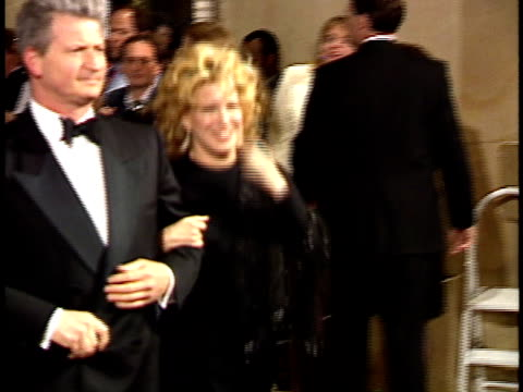 vídeos de stock, filmes e b-roll de bette midler and husband martin von haselberg walks down the red carpet - american film institute