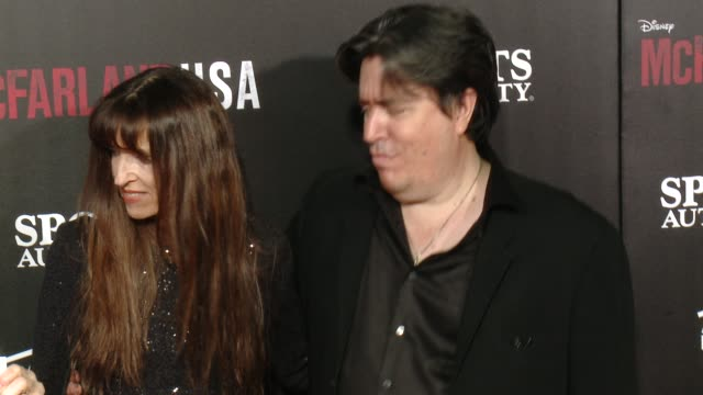 "bettina gilois and christopher cleveland at the ""mcfarland, usa"" los angeles premiere at the el capitan theatre on february 09, 2015 in hollywood,... - el capitan theatre stock videos & royalty-free footage"