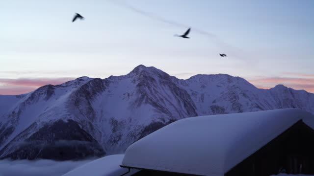 bettmeralp in winter,switzerland - shack stock videos and b-roll footage