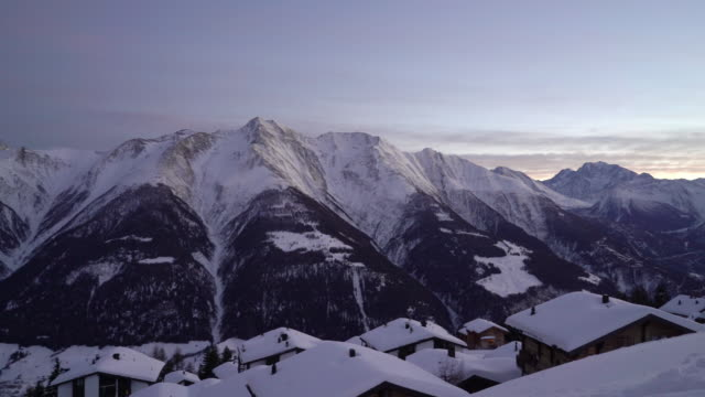 Bettmeralp in winter,Switzerland