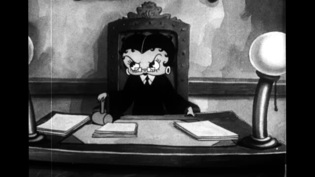 Betty Boop pretends to be a judge