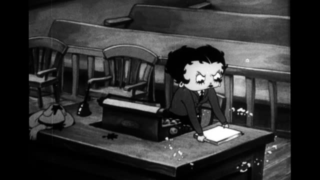betty boop tidies courtroom and dons judge's robe - paranoia stock videos & royalty-free footage