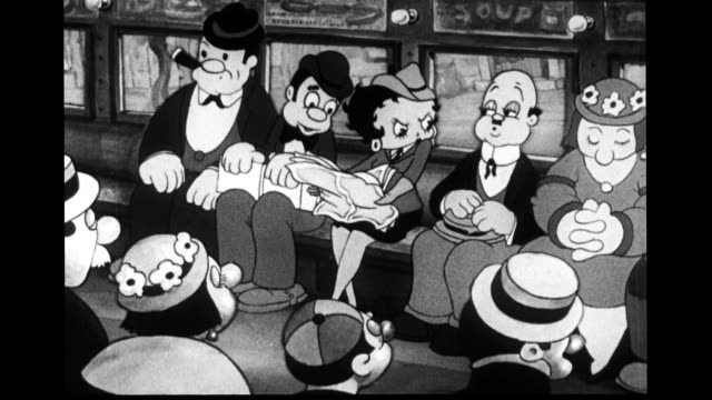 betty boop tries to reads newspaper on bus - ohövlighet bildbanksvideor och videomaterial från bakom kulisserna