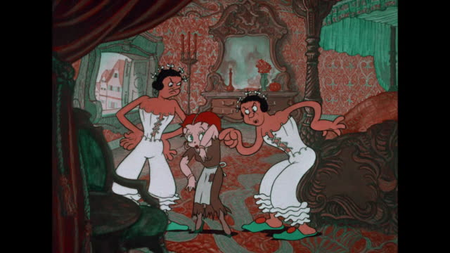 betty boop's step sisters boss her around - cinderella stock videos & royalty-free footage