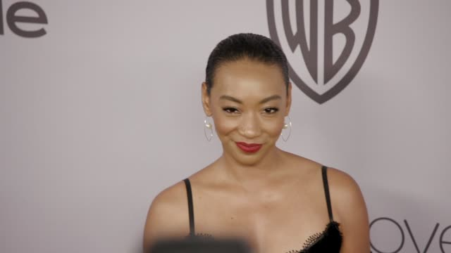 Betty Gabriel at the Warner Bros Pictures and InStyle Host 19th Annual PostGolden Globes Party at The Beverly Hilton Hotel on January 7 2018 in...