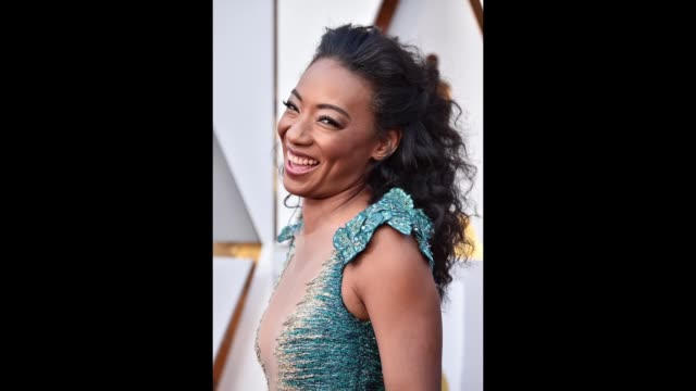 betty gabriel attends the 90th annual academy awards at hollywood highland center on march 4 2018 in hollywood california - 90th annual academy awards stock videos & royalty-free footage