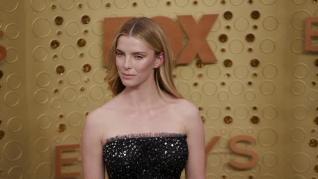 betty gilpin at the 71st emmy awards - arrivals at microsoft theater on september 22, 2019 in los angeles, california. - emmy awards stock videos & royalty-free footage