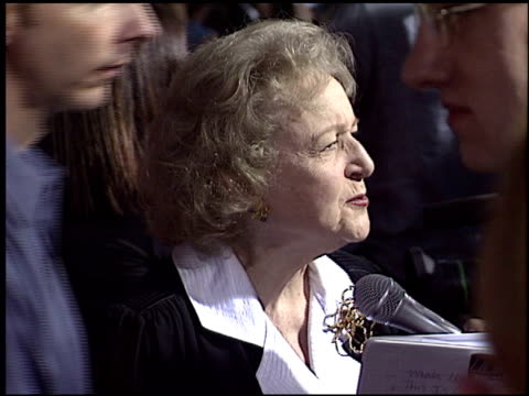 betty white at the 'bringing down the house' premiere at the el capitan theatre in hollywood, california on march 2, 2003. - el capitan theatre stock videos & royalty-free footage