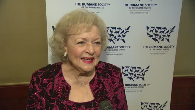 Betty White on the event her love of animals saving the wolves at the The 25th Anniversary Genesis Awards Presented By The Humane Society Of The...