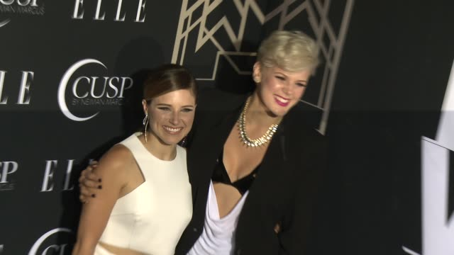 stockvideo's en b-roll-footage met betty who, sophia bush at 5th annual elle women in music celebration presented by cusp by neiman marcus at avalon on april 22, 2014 in hollywood,... - neiman marcus