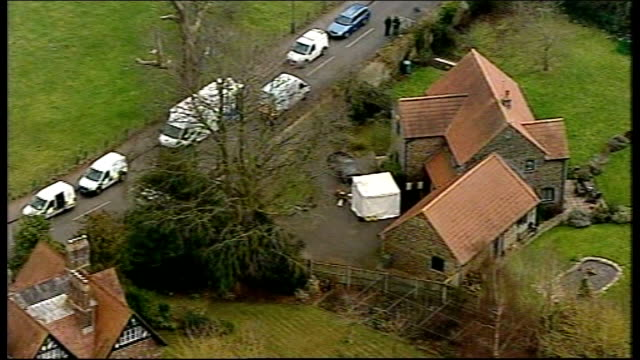 betty yates and reverend john suddards murders stephen farrow found guilty lib / tx thornbury police vehicles outside vicarage - gloucestershire stock videos and b-roll footage