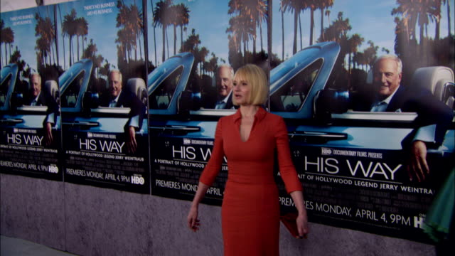 between ellen barkin posing and paparazzi taking pictures on the red carpet at paramount studios - paramount pictures stock videos & royalty-free footage