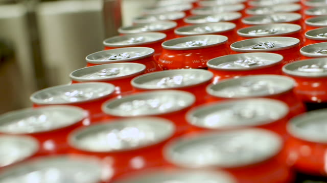 beverage cans with pop tabs - aluminium stock videos & royalty-free footage
