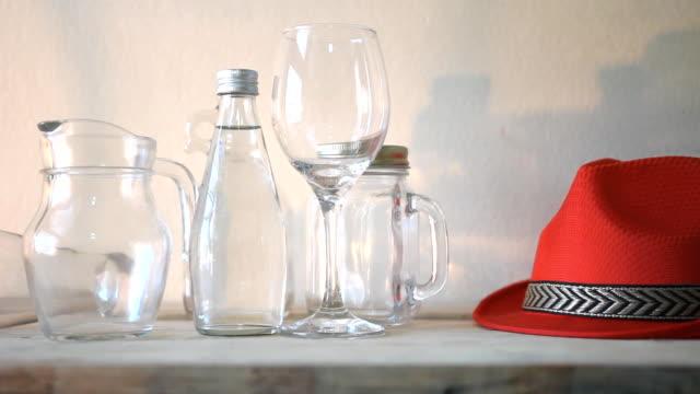 Beverage glass sets, Dolly Shot.
