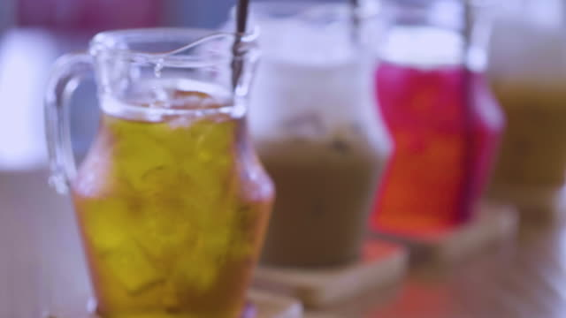 beverage iced tea - ice cube stock videos & royalty-free footage
