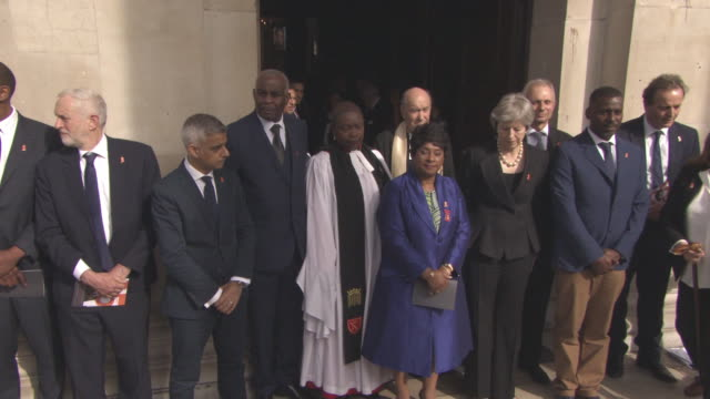 beverley knight, lenny henry, jeremy corbyn, sadiq khan, neville lawrence, doreen lawrence at 25th anniversary stephen lawrence memorial service on... - lenny henry stock videos & royalty-free footage