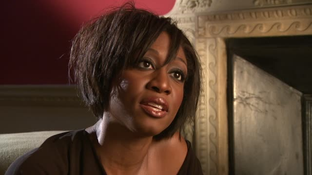 beverley knight on working with hiv charities, on std's being o the rise at the beverley knight interview at london england. - retrovirus video stock e b–roll