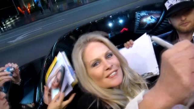 beverly d'angelo greets fans at the pantages theatre in hollywood 02/28/12 - パンテージスシアター点の映像素材/bロール