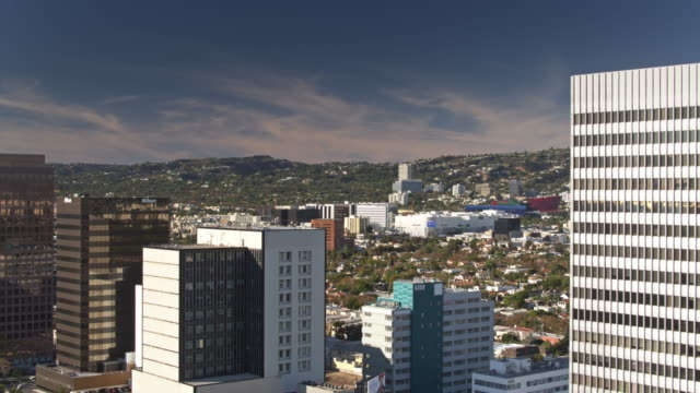 beverly grove and west hollywood from the air - west hollywood stock-videos und b-roll-filmmaterial