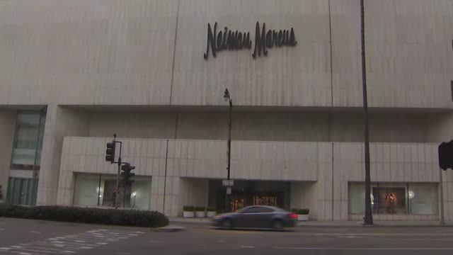 ktla beverly hills ca us exterior of saks fifth avenue and neiman marcus department stores in beverly hills on monday august 12 2019 - neiman marcus stock videos & royalty-free footage