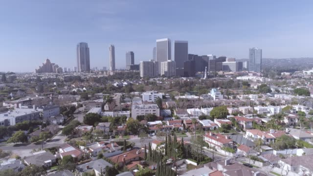 beverly hills century city aerial - century city stock videos & royalty-free footage