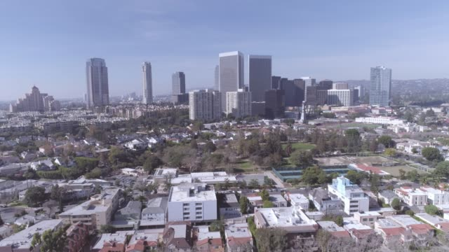 beverly hills century city antenne - century city stock-videos und b-roll-filmmaterial