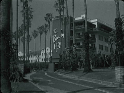 montage beverly hills hotel and city hall / beverly hills, california, united states - beverly hills california stock videos & royalty-free footage