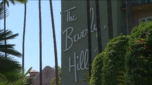 beverly hills hotel in beverly hills, ca. opened on may 12, 1912. - beverly hills hotel stock videos & royalty-free footage
