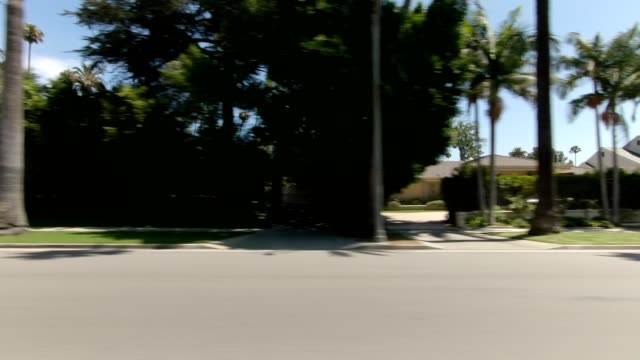 beverly hills ii synced series left view driving process plate - beverly hills stock videos & royalty-free footage