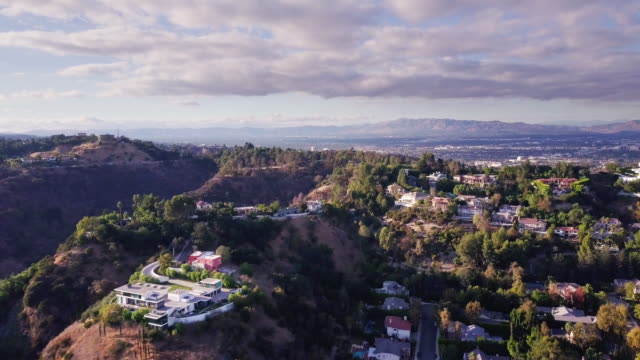 beverly hills neighborhood from above - beverly hills california stock videos & royalty-free footage