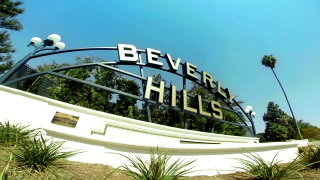 ws beverly hills sign - beverly hills california stock videos & royalty-free footage
