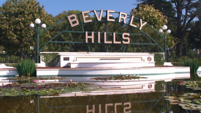 beverly hills sign - santa monica blvd stock videos & royalty-free footage