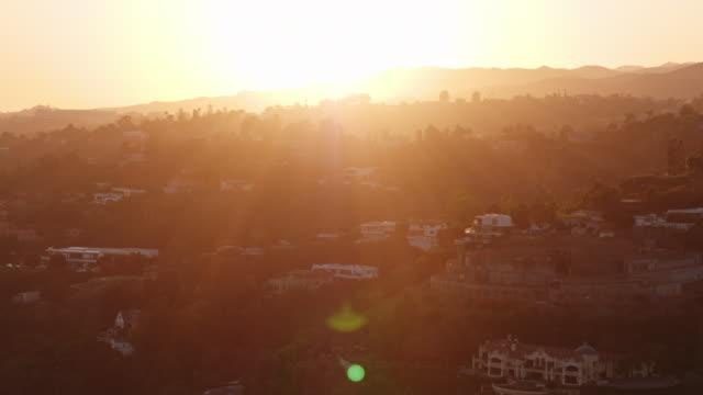 ビバリーヒルズサンセット空中 - beverly hills点の映像素材/bロール