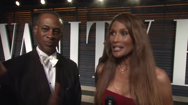 interview beverly johnson at the 2015 vanity fair oscar party hosted by graydon carter at wallis annenberg center for the performing arts on february... - wallis annenberg center for the performing arts stock videos and b-roll footage