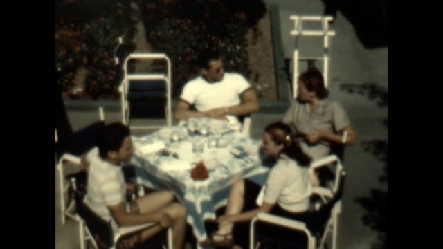 beverly wilshire hotel lounge and pool from a home movie collection in the 1940's. - beverly hills stock videos & royalty-free footage