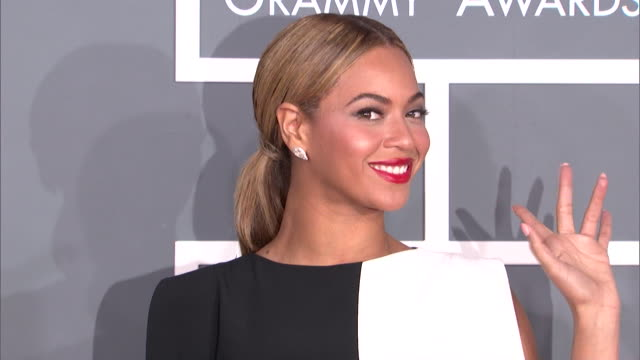 beyoncé at the 55th annual grammy awards arrivals in los angeles ca - beyoncé knowles stock videos & royalty-free footage